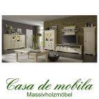 Massivholz Wohnzimmermöbel set wohnzimmer Kiefer massiv cremeweiss Landhaus PARIS komplett, Vintage