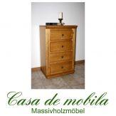 Massivholz Dielenkommode Fichte massiv VALENTINA schubladenkommode honig antik lackiert