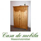 Massivholz Vertiko Fichte massiv wäscheschrank VALENTINA  honig antik lackiert