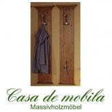 Massivholz Wandgarderobe Garderobenpaneel Fichte massiv LARA - antik lackiert