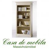 Massivholz Bücherschrank Bücherregal weiß fichte massiv LARA