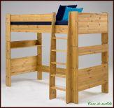 Hochbett groß 90x200 For Kids - Holz Kiefer massiv gelaugt geölt