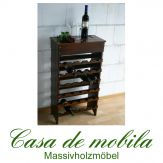 Massivholz Weinregal Flaschenregal 30 Fichte massiv DECOR - kolonial lackiert
