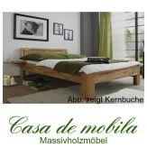 Massivholz Bett Buche massiv geölt CARO - mit Nachtkonsole 100x200