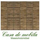 Massivholz Kleiderschrank Eiche massiv natur geölt Schlafzimmerschrank FRONT6 - 6-türig, Wildeiche