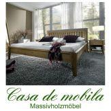 Massivholz Doppelbett Holzbett Bettgestell Eiche massiv SARA I - 140x200, Wildeiche
