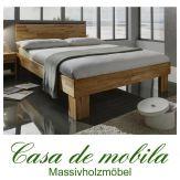 Massivholz Bett Kernbuche massiv geölt GAMMA Holzbett 90x200