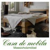 Massivholz Bett Holzbett Buche massiv geölt GAMMA Buchenbett 90x200
