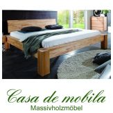 Massivholz Balkenbett Buche massiv geölt Bett Naturholzbett HERCULES Doppelbett 140x200 Kernbuche Holzbett