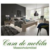 Massivholz Balkenbett 180x200 Bett Holzbett Wildeiche massiv white-wash