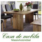 Massivholz Esstisch Holz Wildeiche massiv natur geölt BINZ - 160x90cm Tisch Eiche