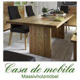 Massivholz Esstisch Holz Wildeiche massiv natur geölt BINZ - 180x100cm Tisch Eiche