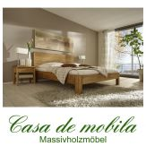 Massivholz Doppelbett 140x200 Holzbett Bett Eiche massiv geölt