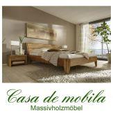 Massivholz  Bettgestelle Doppelbett 140x200 XL Holzbett Bett Eiche massiv geölt