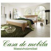 Massivholz  Bettgestelle Doppelbett 140x200 XL Holzbett Bett Kernbuche massiv geölt