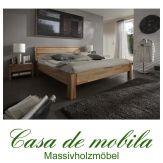 Massivholz Doppelbett 140x200 Holzbett Bett Kernbuche massiv geölt