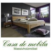Massivholz Bett Einzelbett 90x200 XL Holzbett Bett Kiefer massiv gelaugt geölt