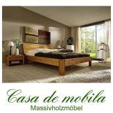 Massivholz Bett Einzelbett 90x200 XL Holzbett  Kiefer massiv honig lackiert