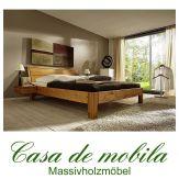 Massivholz Bett Einzelbett 90x200 XL Holzbett Futonbett Kiefer massiv honig lackiert
