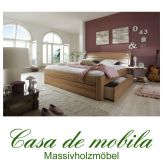 Massivholz Schubladenbett 140x200 Bett mit Schubladen Kernbuche massiv geölt
