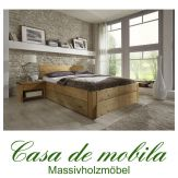 Massivholz Schubladenbett 140x200 Holzbett Bett Kiefer massiv gelaugt geölt