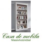 Massivholz Bücherregal Kiefer massiv weiss Regal Bücherschrank BERGEN weiß