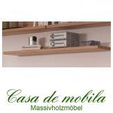 Massivholz Wandregal Buche massiv natur geölt CASERA - Wandboard 60 cm Rotkernbuche / Kernbuche