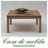 Massivholz Couchtisch Buche massiv natur geölt CASERA - wohnzimmertisch 90x90 cm Rotkernbuche / Kernbuche