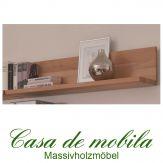 Massivholz Wandboard Buche massiv natur geölt CASERA - Wandregal 60 cm Rotkernbuche / Kernbuche
