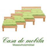Massivholz Bett buche massiv geölt CAMPINO Jugendbett 90x200, Holzbett Kernbuche