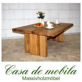 Massivholz Couchtisch Holz Wildeiche massiv natur geölt ZINGST 120x80cm Eiche