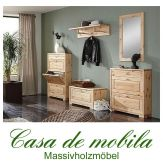 Massivholz Dielen-Set Kiefer massiv lackiert Dielenmöbel naturholz Schuhschränke GULDBORG Garderobenset