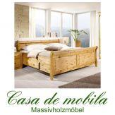 Massivholz Schubladenbett Doppelbett mit Schubladen Landhaus 180x200 Kiefer massiv gelaugt geölt DORA