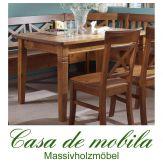 Tisch landhausstil honig Küchentisch 140x90 Fjord - Holz Kiefer massiv bernsteinfarben lackiert