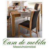 Massivholz Esstisch Esszimmertisch 140x90 Wildeiche massiv natur geölt GECS V3.1