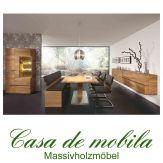 Massivholz Esszimmer komplett Asteiche massiv natur geölt - Speisezimmer 7-teilig ACERRO