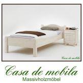 Massivholz Kinderbett weiss Bett Kiefer massiv Kiefernbett ROJA 90x200 weiß lasiert