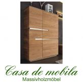 Massivholz Highboard rustikale Asteiche massiv natur geölt - ACERRO