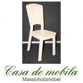 Massivholz Stuhl Kiefer massiv weiß lasiert GULDBORG - Holzstuhl Küchenstuhl Esszimmerstuhl
