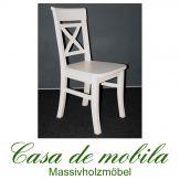 Massivholz Stuhl Weiß Stühle Küchenstühle Kiefer massiv  Fjord Kiefernstuhl Holzstuhl weiss lackiert