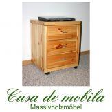 Massivholz Rollcontainer Kiefer massiv lackiert Schreibtisch container büro GULDBORG