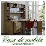 Massivholz Büromöbel komplett 4-teilig Kiefer massiv antik Büroeinrichtung Malmoe