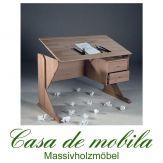 Massivholz Kinder-Schreibtisch höhenverstellbar holz Buche massiv geölt - KIDY