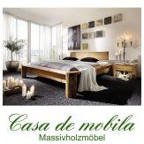 Massivholz Balkenbett antik  140x200  Doppelbett Kiefer massiv Holzbett Unikat Bett Fichte gewachst TUNDRA