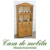 Massivholz Bücherschrank Kiefer massiv gelaugt geölt regal LANDHAUS Küchenschrank