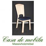 Massivholz Stuhl mit polster Kiefer massiv weiß lasiert GULDBORG - Stuhl Holzstuhl Küchenstuhl Esszimmerstuhl