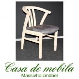 Massivholz Armlehnstuhl gepolstert Kiefer massiv weiß lasiert FARO stuhl mit armlehne Holzstuhl Esszimmerstuhl