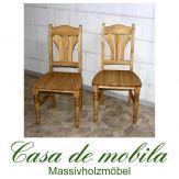 2er-Set Stuhl Stühle Kiefer massiv gelaugt geölt LANDHAUS - Holzstühle Küchenstühle