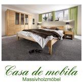 Massivholz Schlafzimmer komplett Kernbuche massiv geölt DIANA II - Bett 140x200