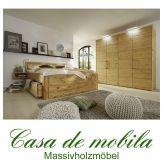 Massivholz Schlafzimmer komplett Astkiefer massiv gelaugt geölt GLORIA 4-teilig